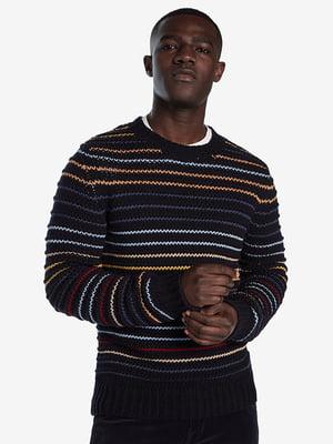 Джемпер черный в полоску | 5196448