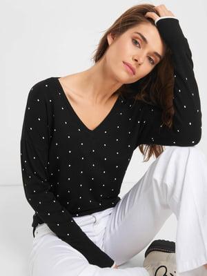 Пуловер чорний в горох | 5203222