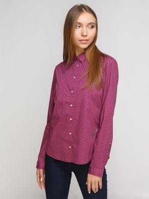 Рубашка цвета фуксии в принт   3939009