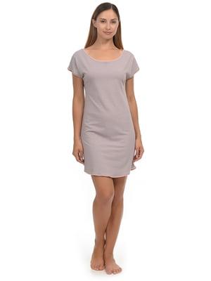 Рубашка ночная цвета пудры | 5204663