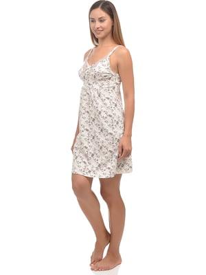 Сорочка нічна молочного кольору | 5204664