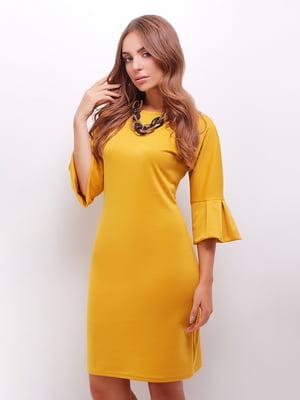 Платье желтое   5205621