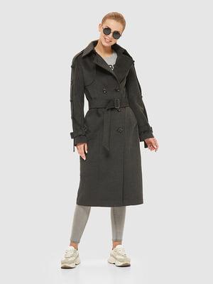 Пальто графітового кольору | 5207063