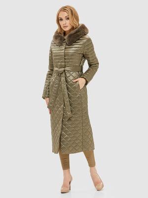 Пальто цвета хаки | 5207078