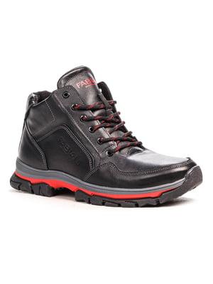 Ботинки черно-красные | 5201482