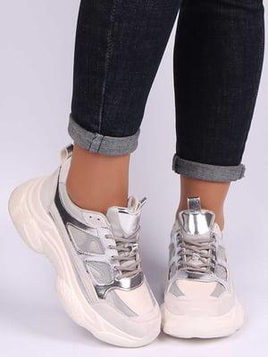 Кроссовки серебристые | 5207251