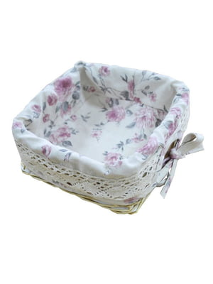 Хлебница плетеная с чехлом (20х20 см) | 5206994