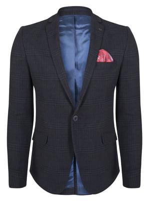 Пиджак темно-синий в клетку | 4418552