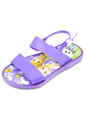 Босоножки фиолетовые   5207926