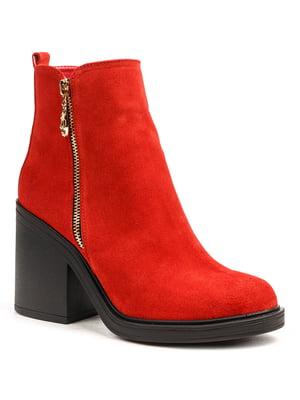 Ботинки красные   5197361