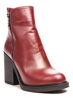 Ботинки цвета марсала | 5197362