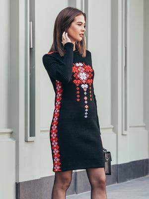 Платье черное с принтом | 5204603