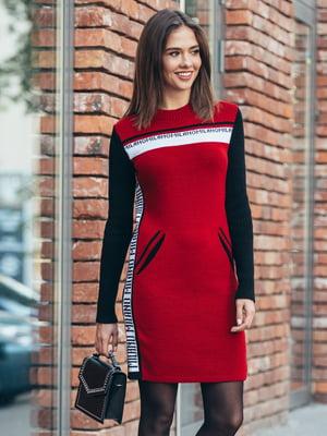 Платье красное с принтом - GUASH - 5204600