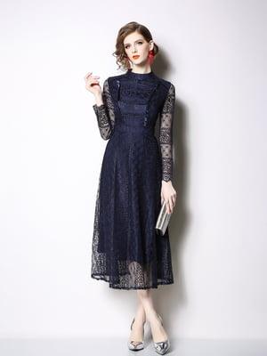 Платье синее | 5209345
