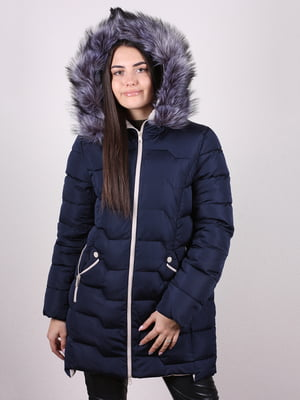 Пальто темно-синее | 5205193