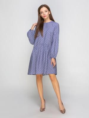 Платье фиолетовое в горох | 5204908
