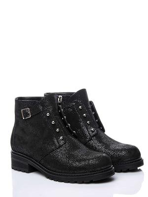 Ботинки черные с блестками | 4661812