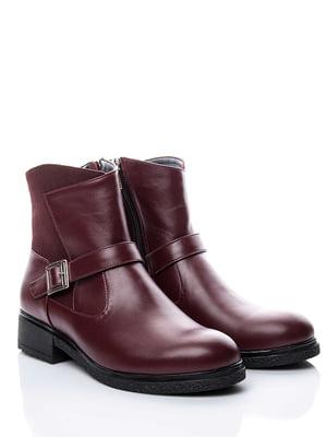 Ботинки бордовые | 4738547