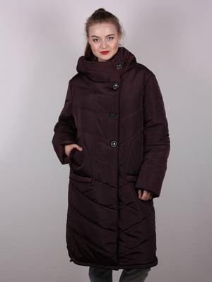 Пальто коричневе | 5204937
