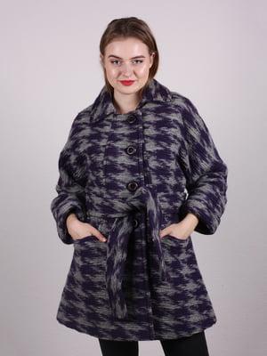 Пальто фиолетовое в принт   5205088