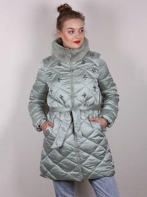 Пальто мятного цвета   5205173