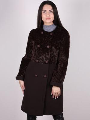 Пальто коричневое   5205179