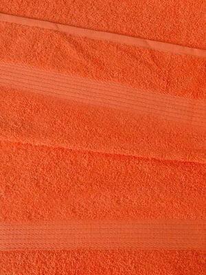 Полотенце махровое оранжевое   5213034