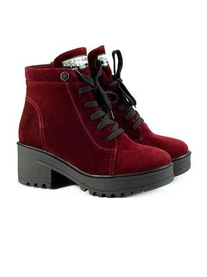 Ботинки бордовые | 5213066