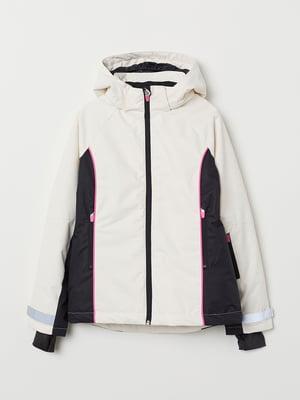 Куртка чорно-біла | 5216719