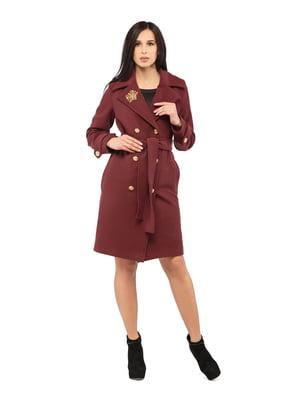 Пальто бордове | 5216154