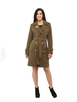 Пальто цвета хаки | 5216158