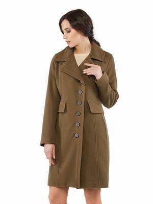 Пальто цвета хаки | 5216166