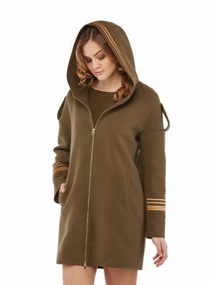 Пальто кольору хакі | 5216174