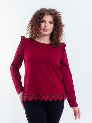 Блуза бордовая | 5216747