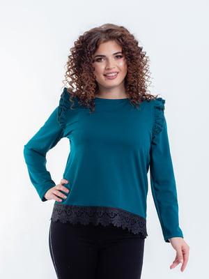Блуза цвета морской волны | 5216748