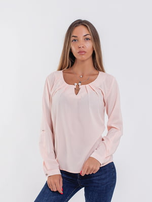 Блуза кольору пудри | 5216769