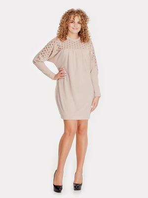 Платье бежевое | 5216938