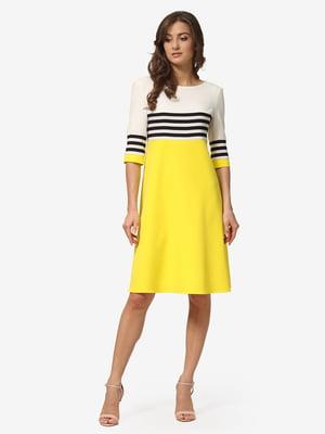 Платье желтое в полоску | 5216950