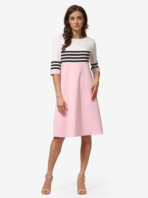 Платье светло-розовое в полоску | 5216951
