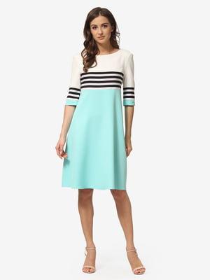 Платье цвета мяты в полоску | 5216953