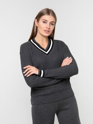 Пуловер темно-сірий | 5217203