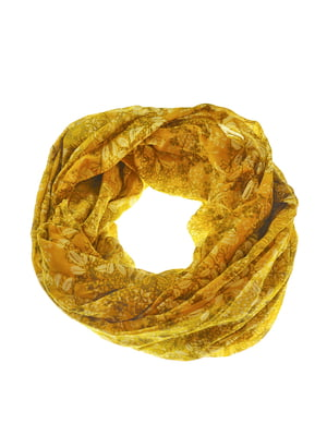 Шарф жовтий в принт | 5217670