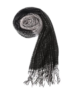 Шарф черно-серый | 5217677