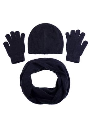 Комплект: шапка, шарф і рукавички | 5217901