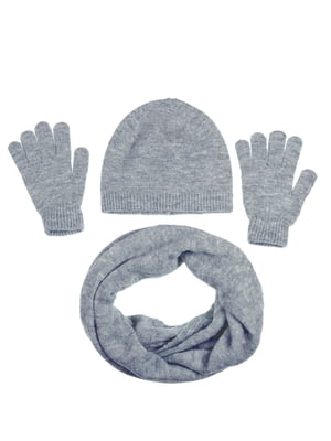 Комплект: шапка, шарф і рукавички | 5217902