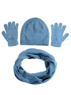 Комплект: шапка, шарф и перчатки | 5217903
