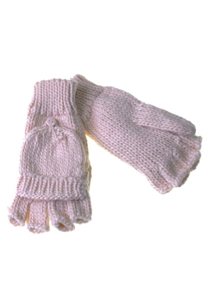 Перчатки-рукавицы розовые | 5217938