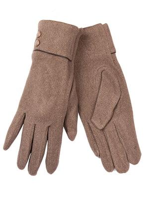 Перчатки бежевые | 5218077