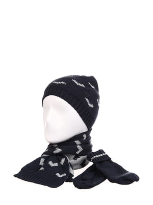 Комплект: шапка, варежки и шарф | 5218321