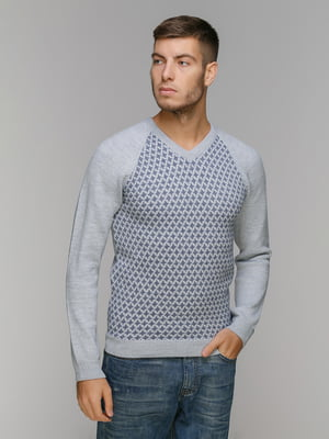 Пуловер серо-голубой | 5211471